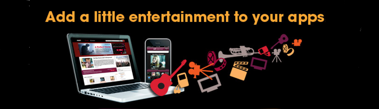Add a entertainment to your apps with our music data API, movie data API, TV listings API, or celebrity data API.